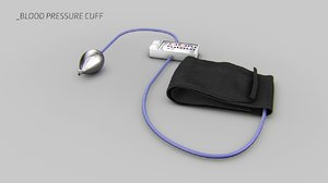 blood pressure monitor cuff 3d model