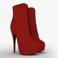 3d model female boots