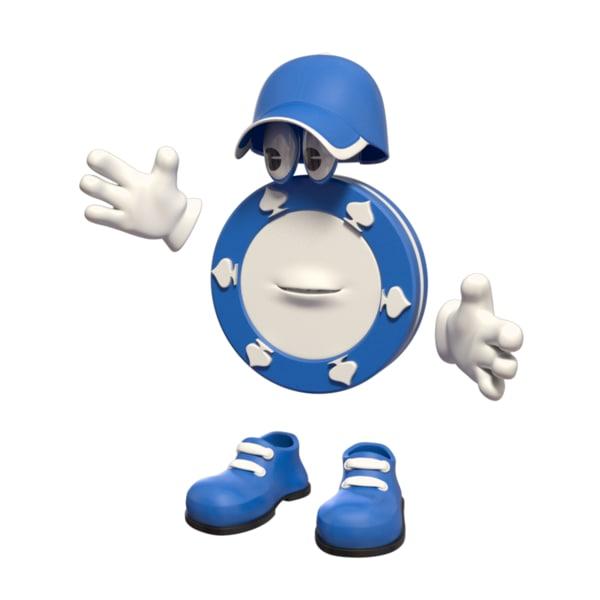 3d token casino character model