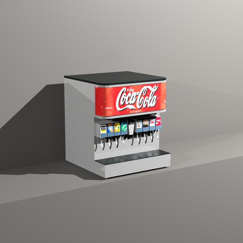 3d restaurant beverage dispenser