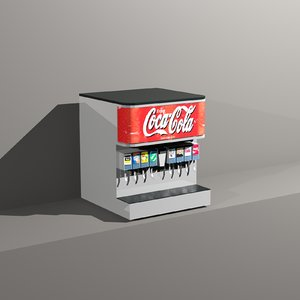 3d restaurant beverage dispenser