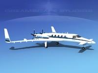 cockpit ultra beechcraft starship 3d model