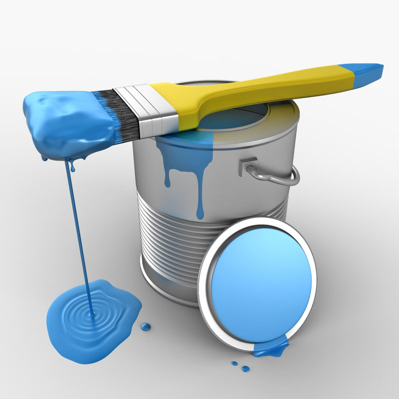 3d paint brush model