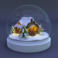 3d model snowglobe snow globe