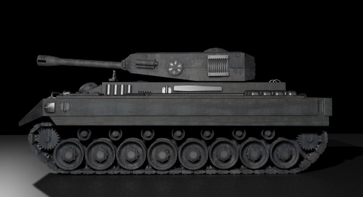 3d model of war tank