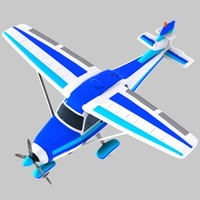 3d model cartoon trainer aircraft