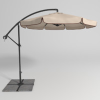 3d model of patio umbrella