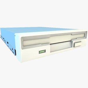 3d model floppy disk drive