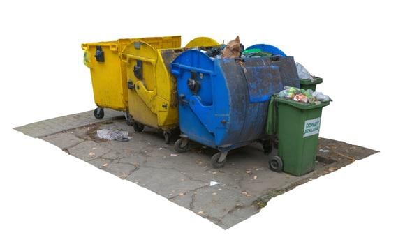 obj garbage bins