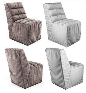 3d soft chair pleats model