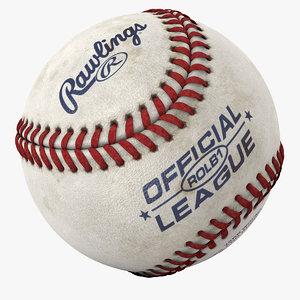 modeled baseball 3d c4d