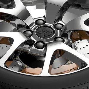 3d model holden insignia vxr wheel