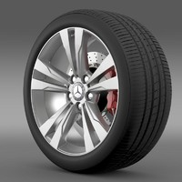 Mercedes Benz S 350 wheel