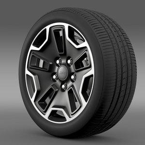 3d model jeep wrangler rubicon wheel