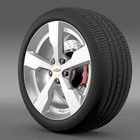 3d chevrolet volt wheel