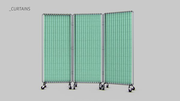3ds max hospital curtains