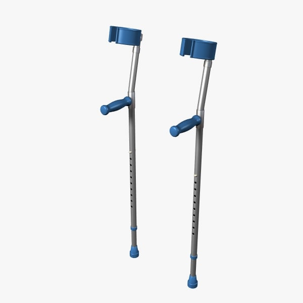 3d model forearm crutches