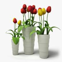 3d flowers vases