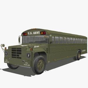 army bus 3d model