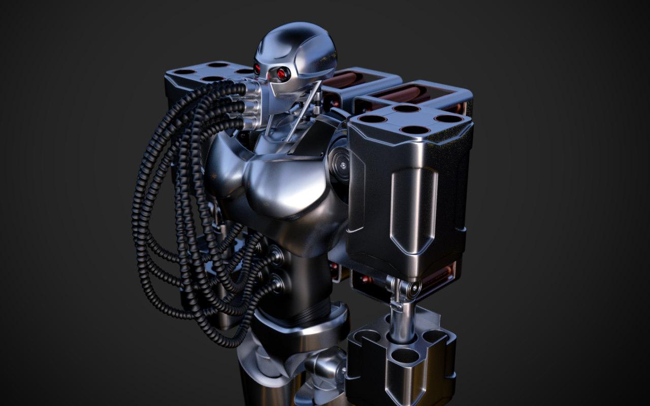 robot designed 3d obj
