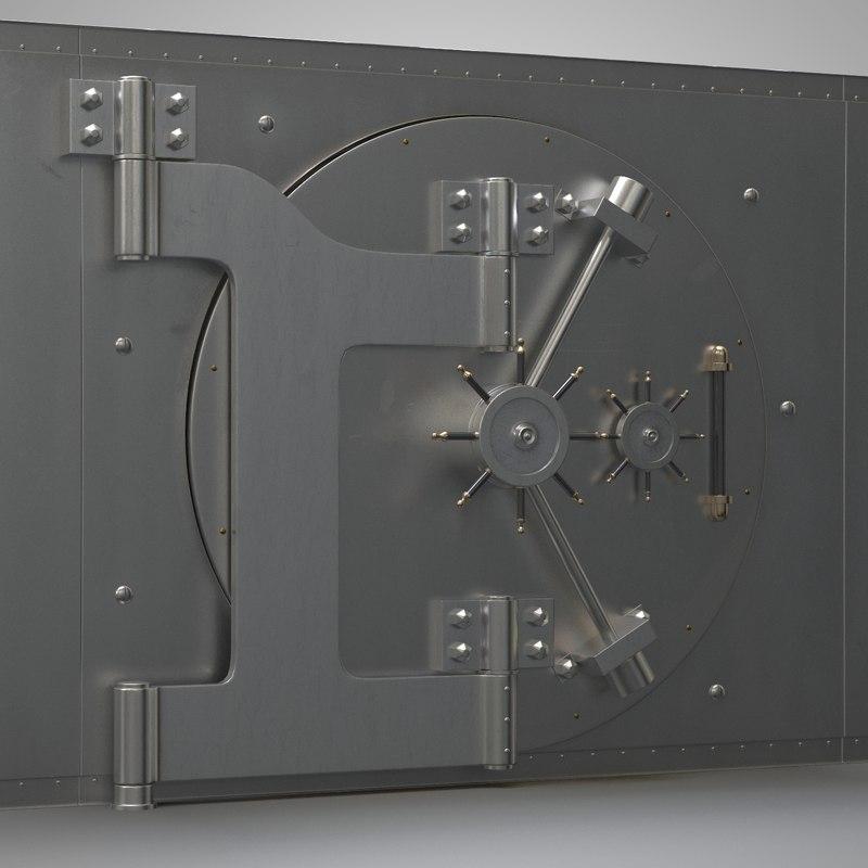 3ds max vault bank safe
