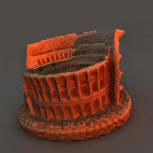 monument rome colliseum 3d model