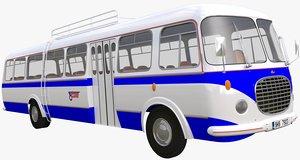 historical bus 3d fbx