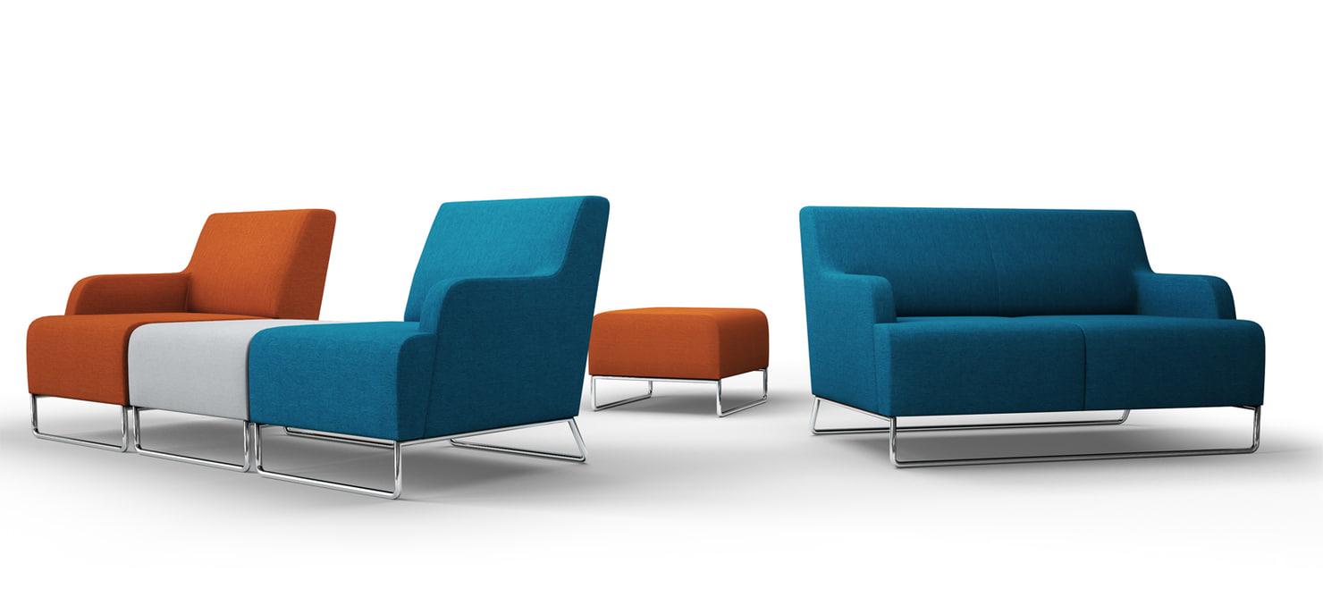 3d polish sofa pouf chairs