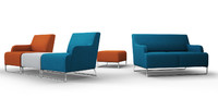 3d polish sofa pouf chairs