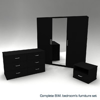 Complete B.M. bedroom's furniture set