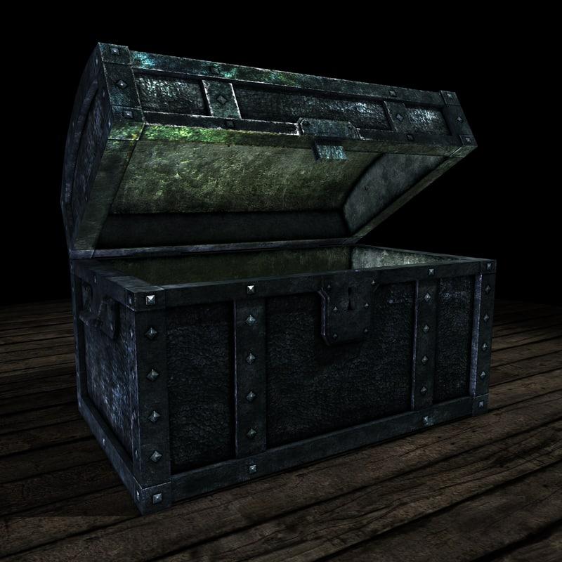 old iron warchest 3d obj