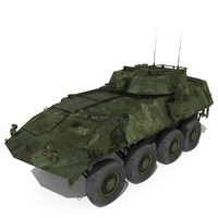 LAV-25 Low Poly