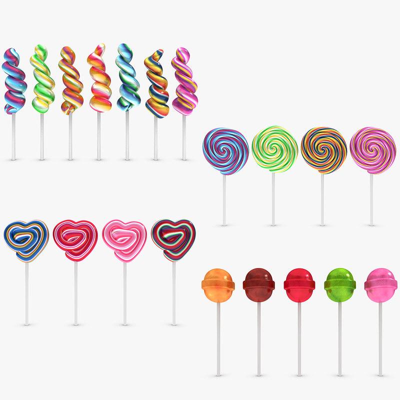 3dsmax lollipop set