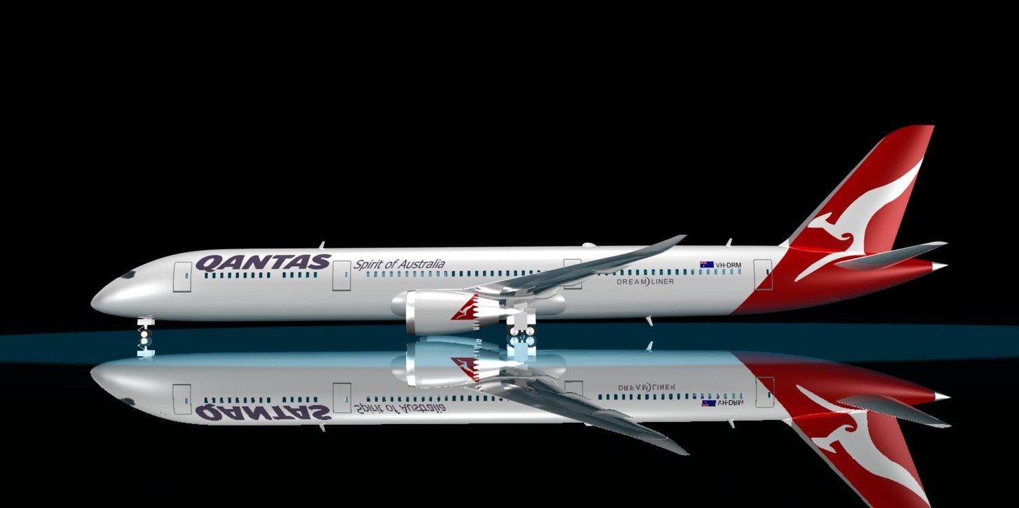 3ds max qantas 787-9 dreamliner 787