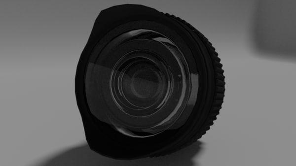 8mm lens 3d model