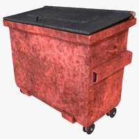 3d dumpster large container model
