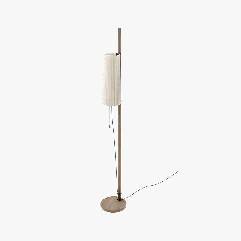 matthew hilton pole light lamp 3d model