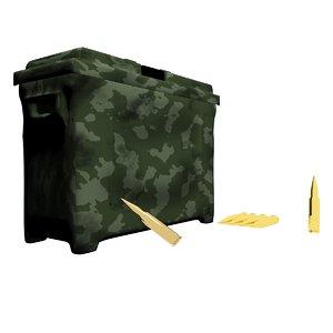 3d model ammo box