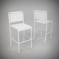 3d allu 129 chair paola model