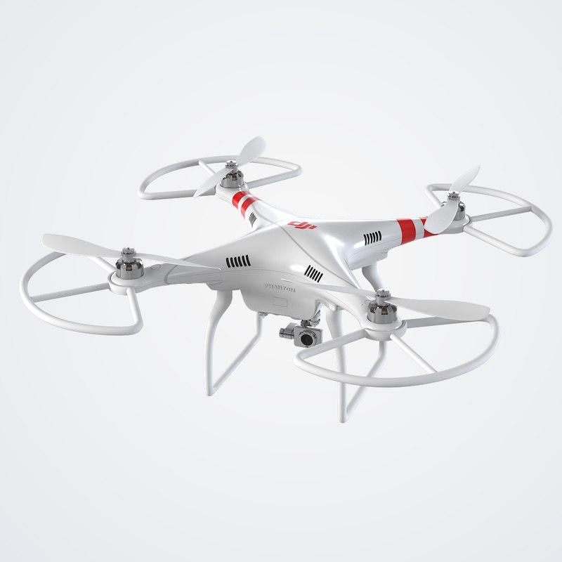 3ds dji phantom quadrocopter