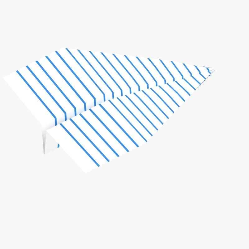 paper plane 3d model