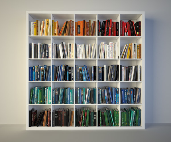 3d model bookcase ikea