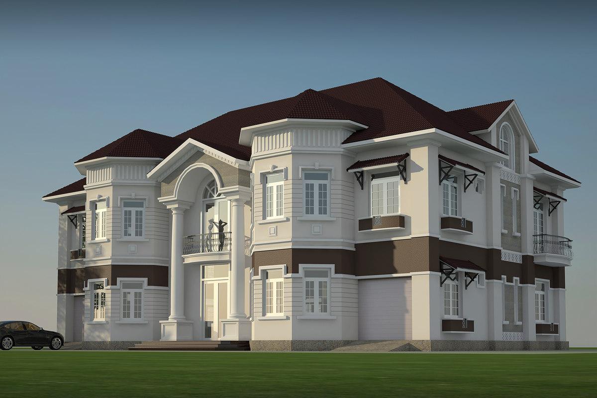 3d model villa for Villas 3d model