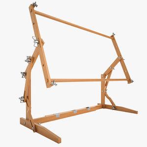 3d needlepoint frame model