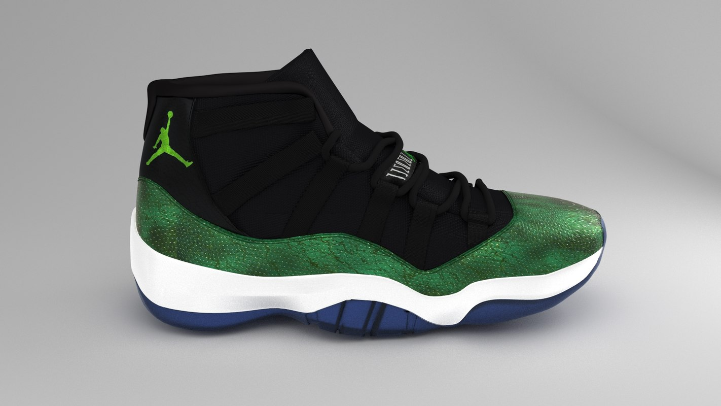 quality design e094c 35619 Air Jordan 11 Green Snakeskin
