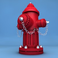 hydrant water 3d c4d