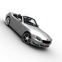 3d model generic roadster car interior