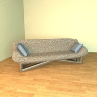 c4d modern design sofa couch