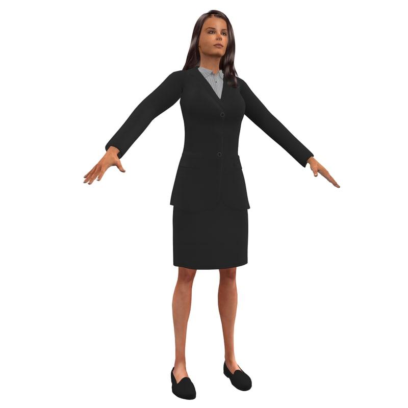 business woman 3d model