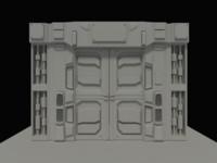 Sci-fi Sliding Panel Door